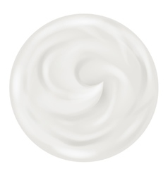Cream curl realistic background isolated 3d design vector