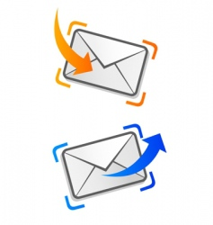email correspondence vector image