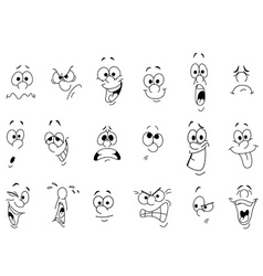 facial expressions vector image vector image
