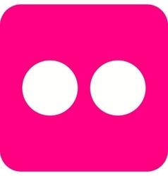 Flickr vector image vector image