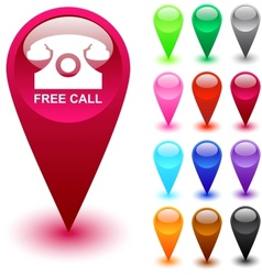 Free call button vector image