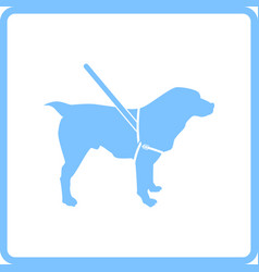 guide dog icon vector image