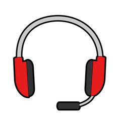 headset icon image vector image