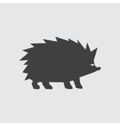 Hedgehog icon vector image