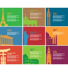 Historic sites vector