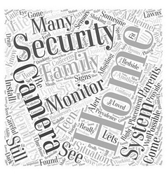 Home Security Concerns and Solutions Word Cloud vector image