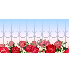 Horizontal seamless pattern of red roses vector image vector image