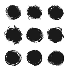 Ink paint banners set vector