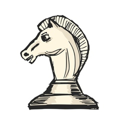 Knight - chess figure vector