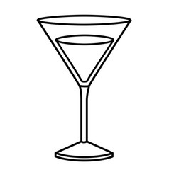 Monochrome silhouette of drink cocktail glass vector