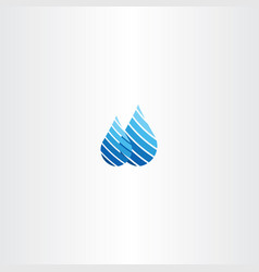 rain water drop logo vector image