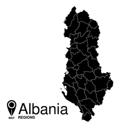 Regions map of Albania Albania vector image vector image