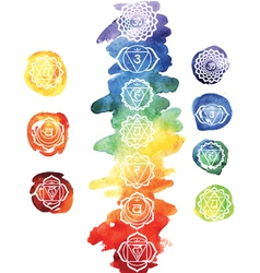 Seven chakras vector image