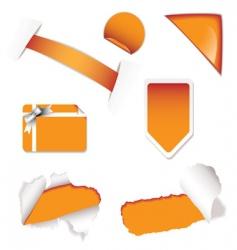 shop sale elements orange vector image vector image