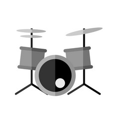 Simple drums instrument graphic vector