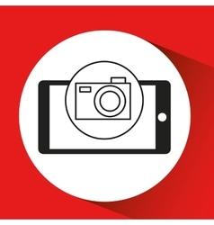 smartphone e-commerce camera photo graphic vector image