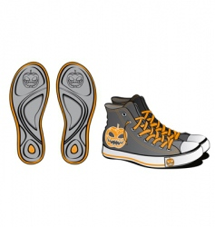 sports shoes Halloween symbol vector image vector image