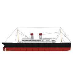 steam ship vector image