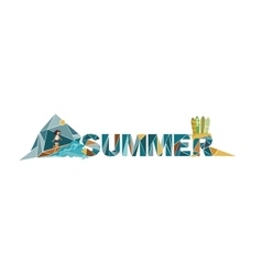 Summer lettering on white background dedicated to vector