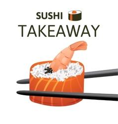 Sushi takeaway vector
