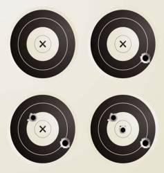 target bullet set vector image