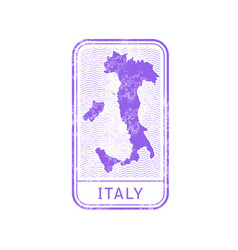travel stamp - italy journey map outline vector image
