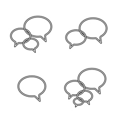 Trendy Thin Icons With Speech Bubbles Set vector image vector image