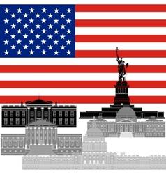 USA vector image vector image