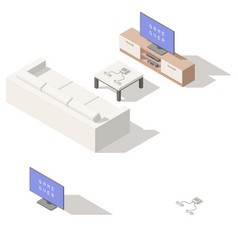 Video game console lowpoly isometric icon set vector