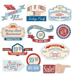 Vintage badges4 vector image