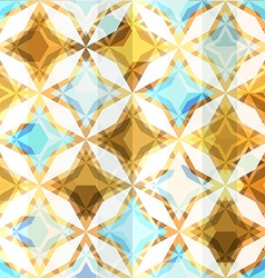 Vintage mosaic star seamless vector