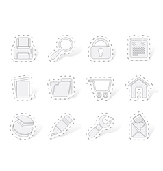 Website internet and computer icons vector