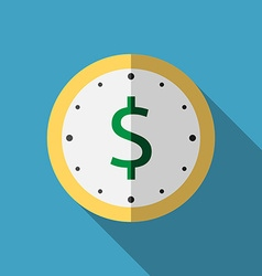 Clock with dollar icon vector