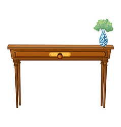 A table and a flowerpot vector