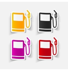 Realistic design element gas station vector