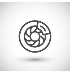 Disk brake line icon vector
