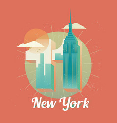 Usa new york twin towers world trade center vector