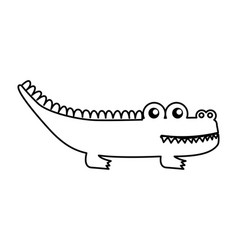 Cute crocodile isolated icon vector