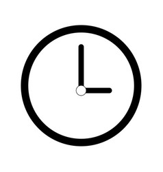 Wall clock icon image vector