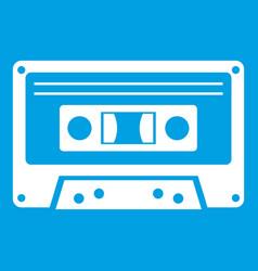 Cassette tape icon white vector
