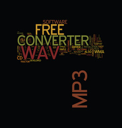 Free wav to mp converter text background word vector