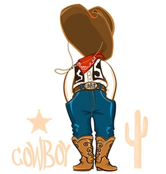 Cowboy clothes isolated on white vector