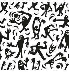 Funny monsters -seamless background vector