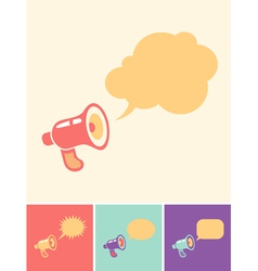 Megaphon and bubblels vector image