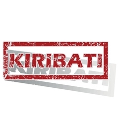 Kiribati outlined stamp vector
