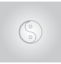 Ying-yang icon of harmony and balance vector