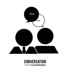 Conversation icons design vector