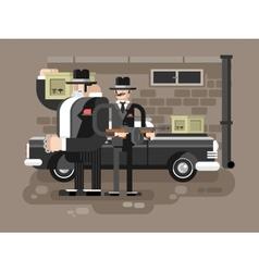 Mafia man character vector image