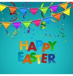 Happy easter background with flags vector