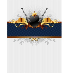 Ornate frame with guns vector